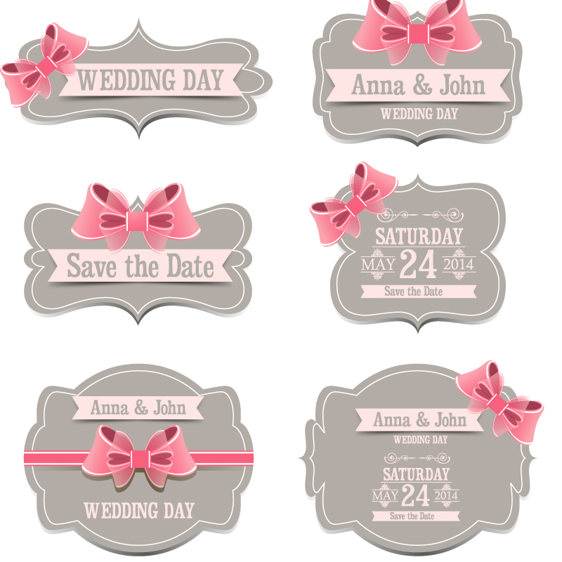 Free Vector Label Ribbon