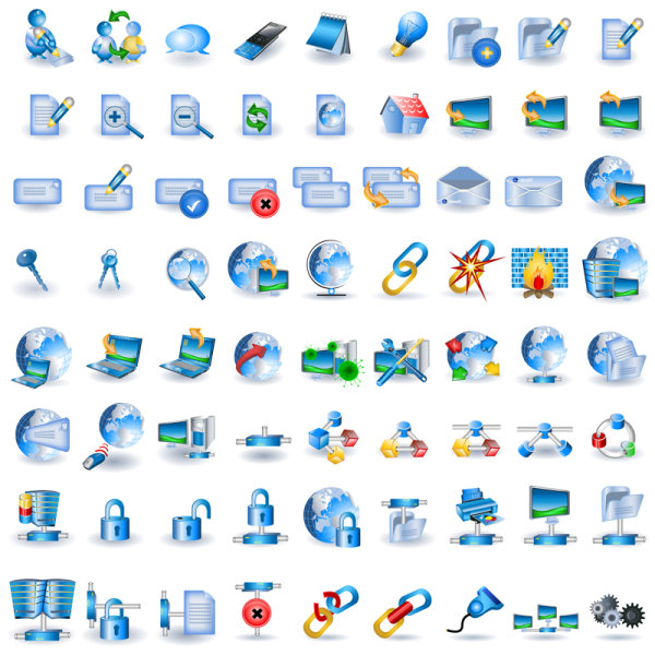 16 Information Technology Web Icons Images