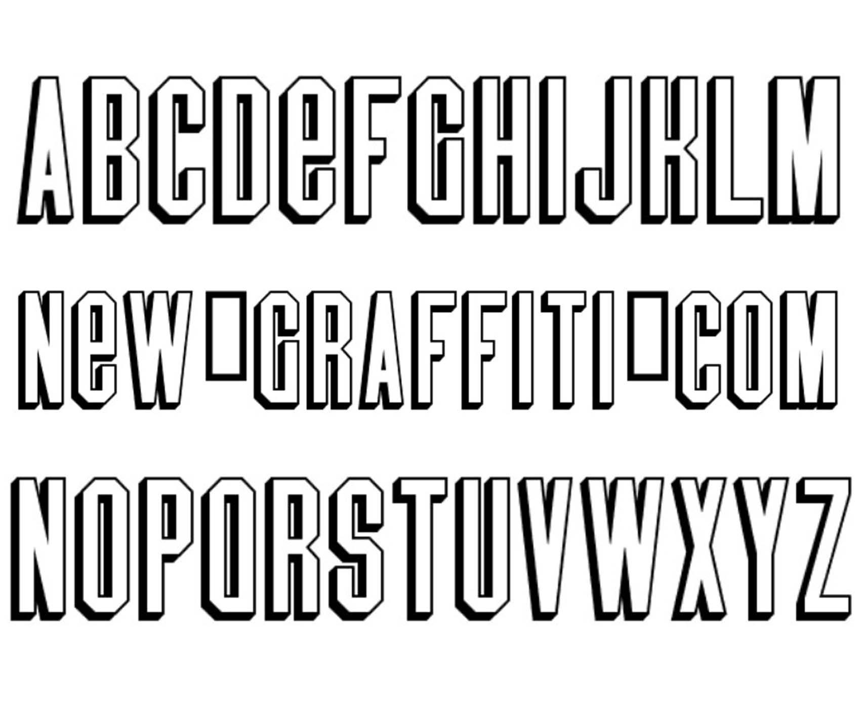 Graffiti 3D Style Fonts