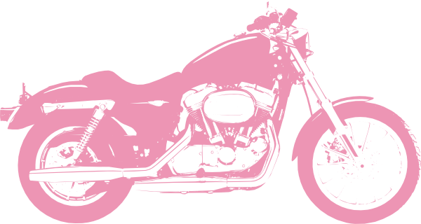 14 Pink Street Motorcycle Vector Outline Images