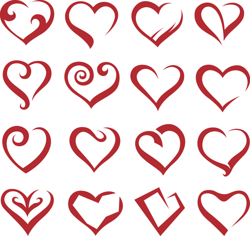 17 Vector Heart Designs Images