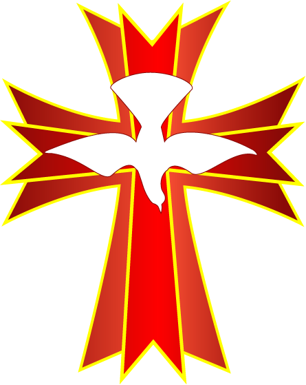 Holy Spirit Cross Clip Art