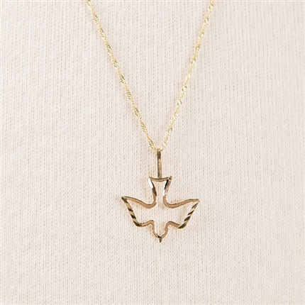 Holy Spirit Dove Necklace Gold
