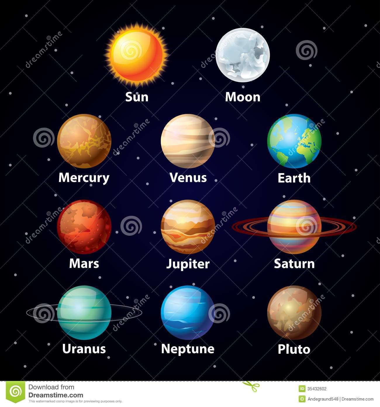 12 Vector Planet Sky Images