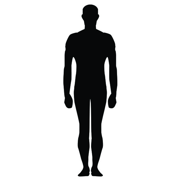 17 Human Standing Silhouette Vector Images