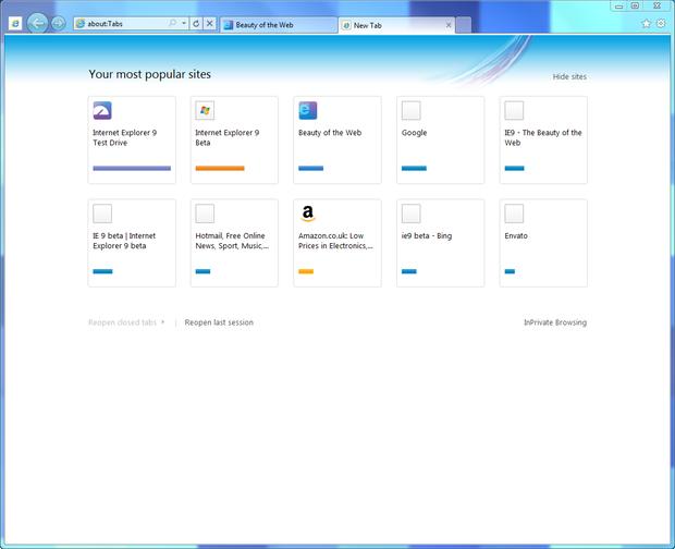 Internet Explorer Favorites Icons Missing