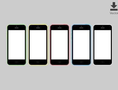 iPhone 5C Vector Template