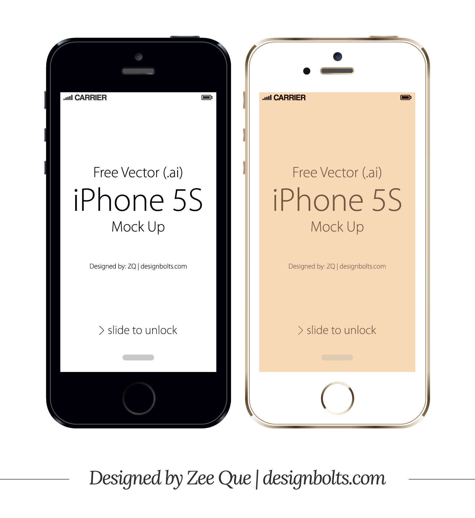 iPhone 5S Template Vector