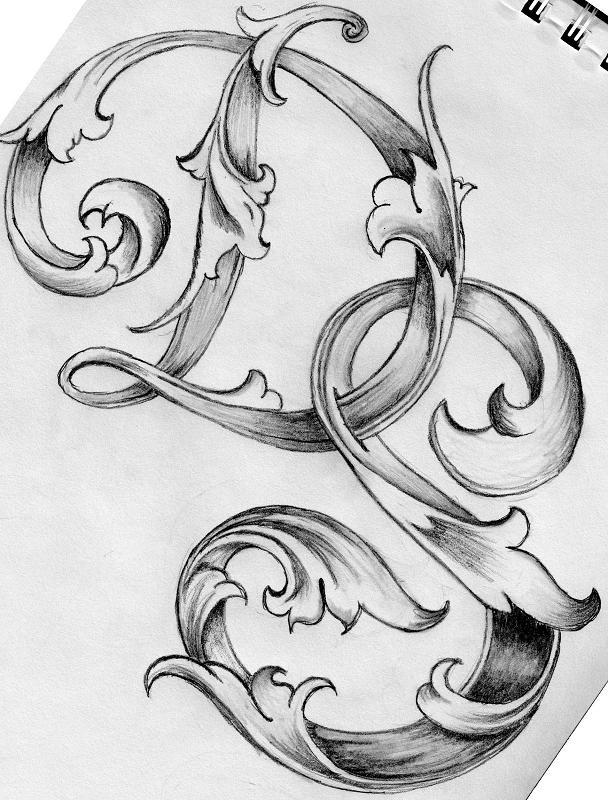 Leaf Script Letters