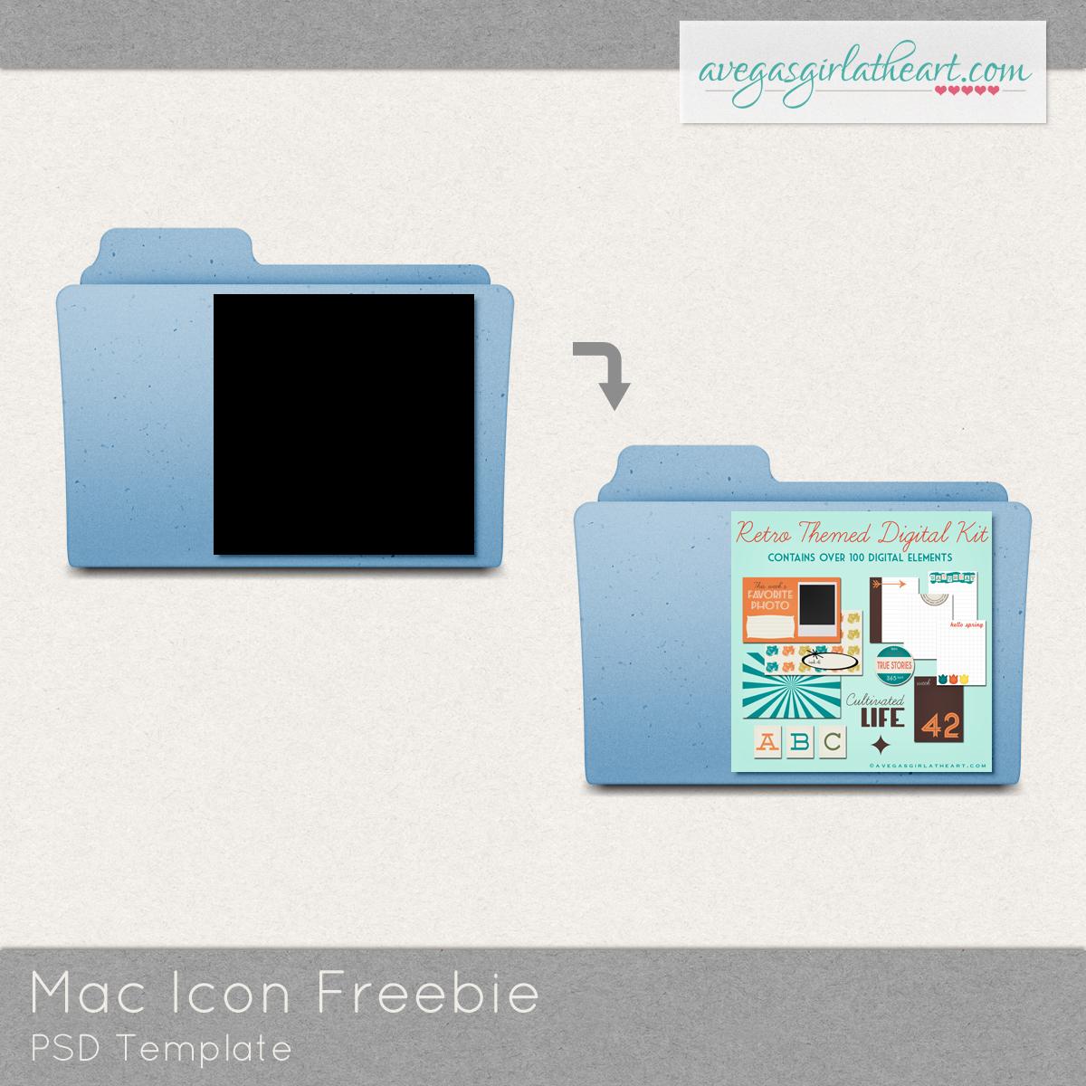 Mac Folder Icon Template