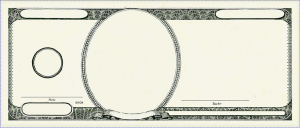 Blank 25 Dollar Bill Template