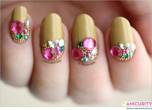 15 Different Nail Designs With Rhinestones Images Nail Art Designs