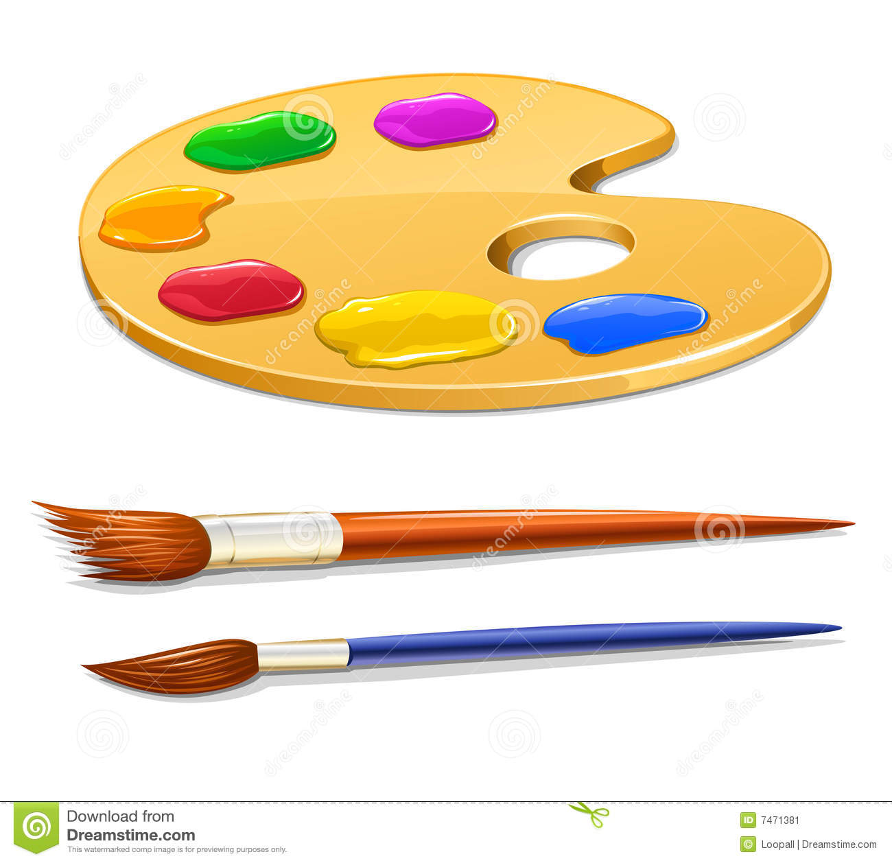 14 Vector Art Artist Palette And Brushes Images