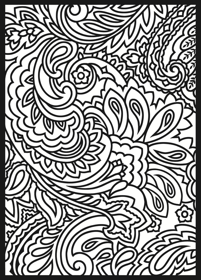 12 Paisley Design Coloring Pages Animals Images