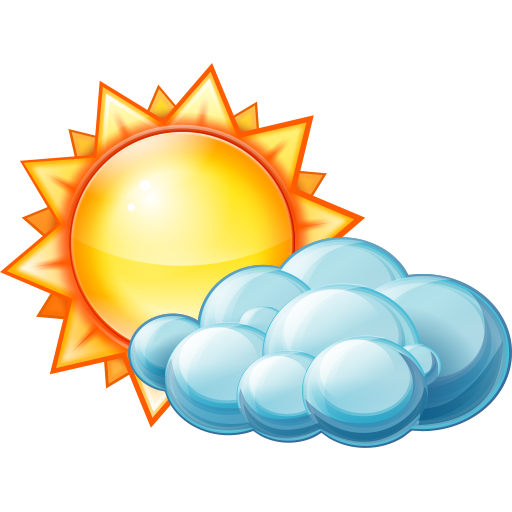 10 Partly Cloudy Icon Images