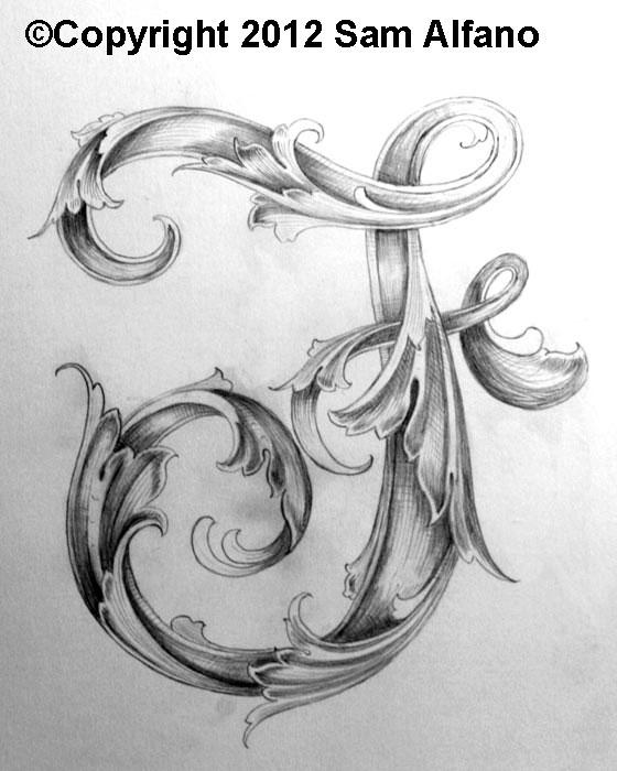 Sam Alfano Leaf Script F