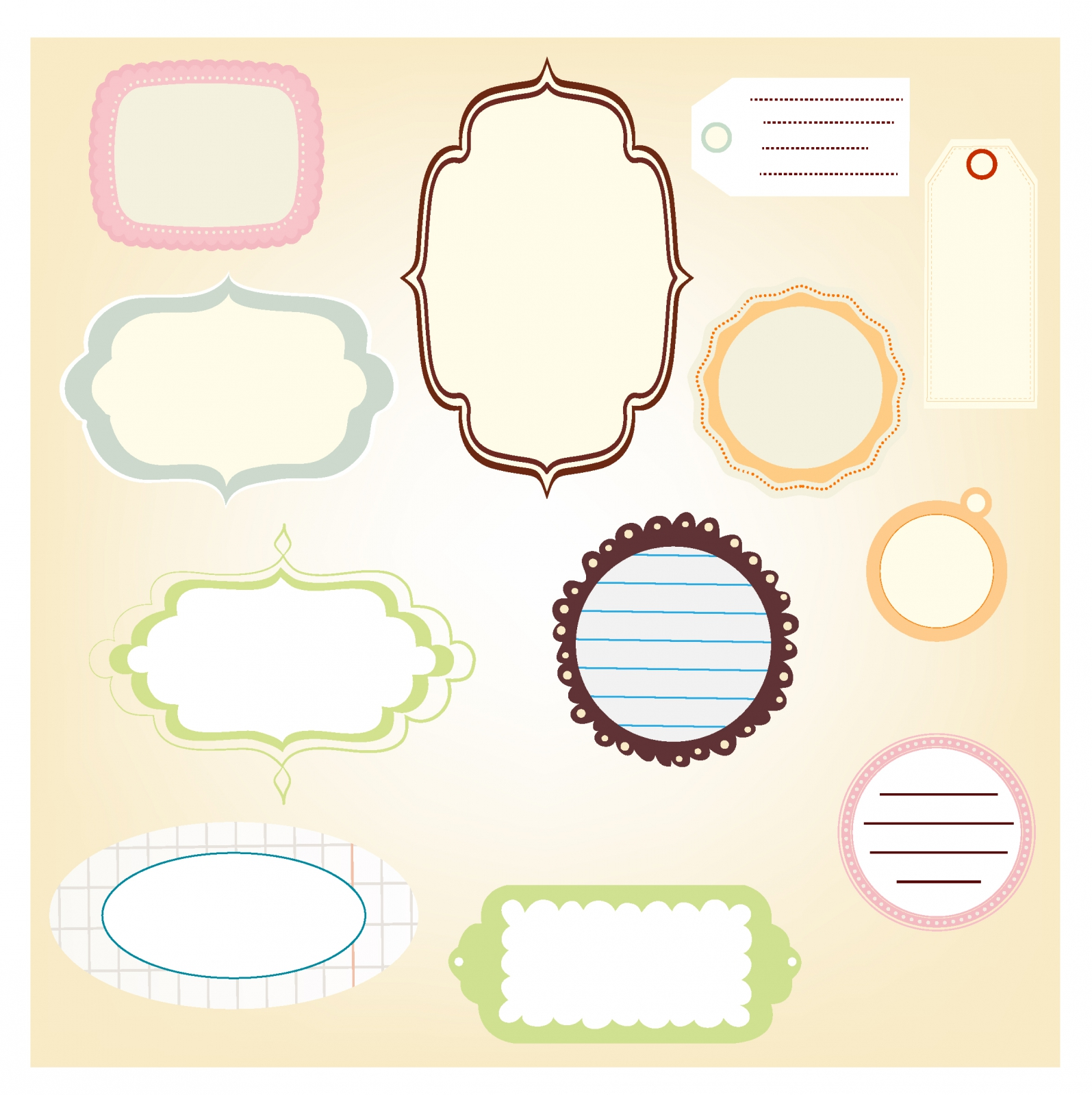 Scrapbook Label Free Vector