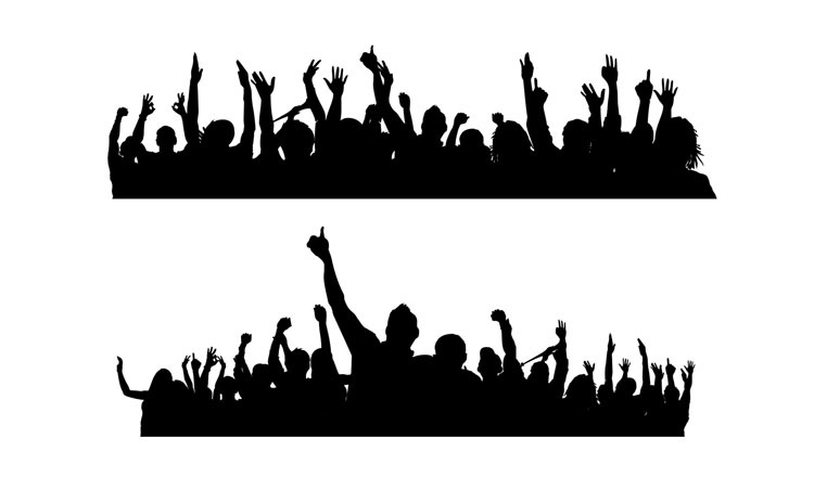 Crowd silhouette png