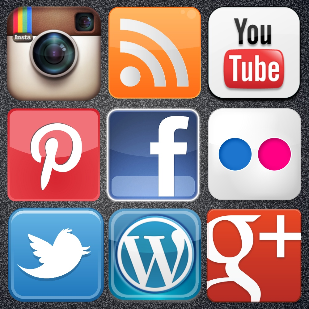 18 Social Media Icon Poster Images
