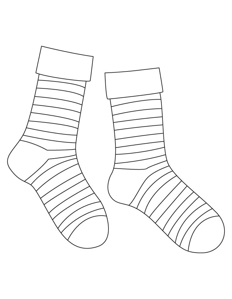 17 Striped Socks Template Images