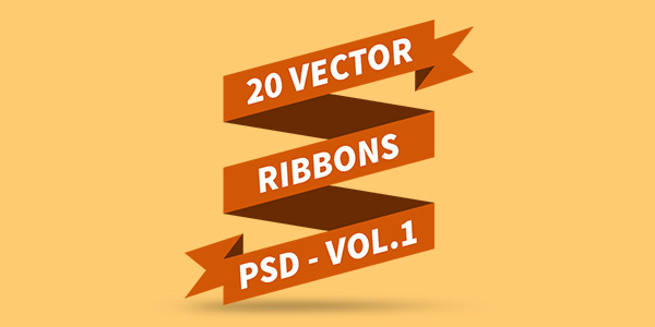 10 Photoshop PSD Ribbon Images