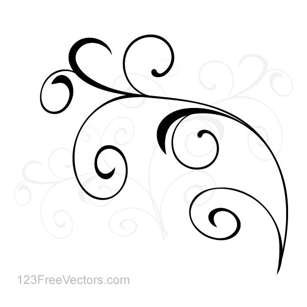 Vector Simple Flourish Clip Art