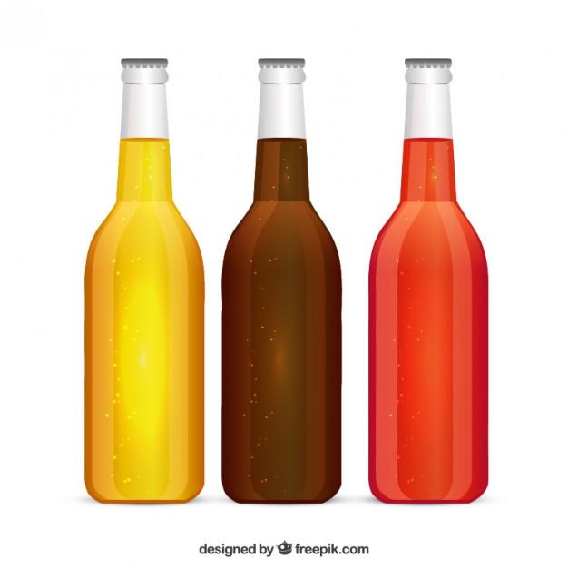 Vector Vintage Soft Drink Bottle Poster