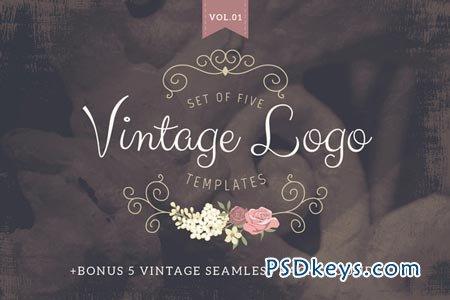 11 Vintage Logo PSD Template Images