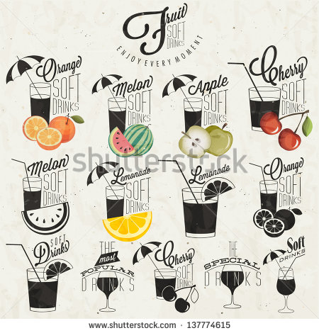 Vintage Soft Drinks Cherry