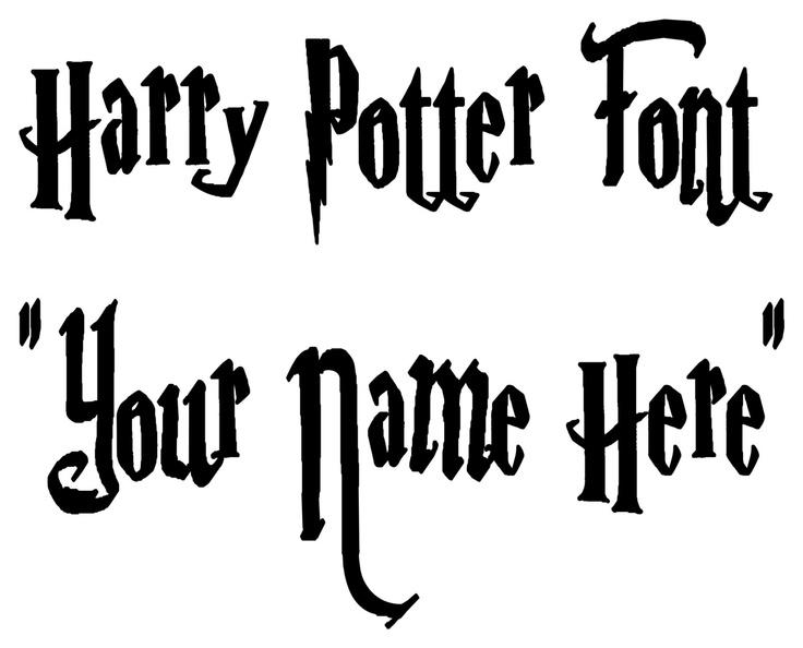 Vinyl Harry Potter Font
