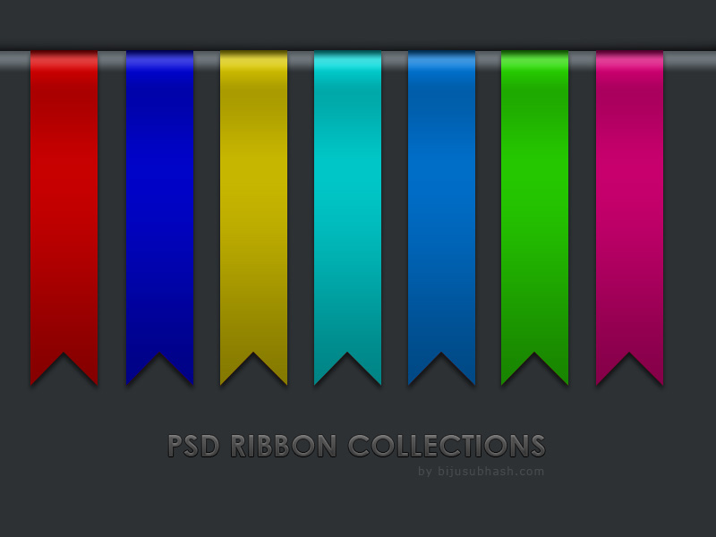 Web Ribbon PSD