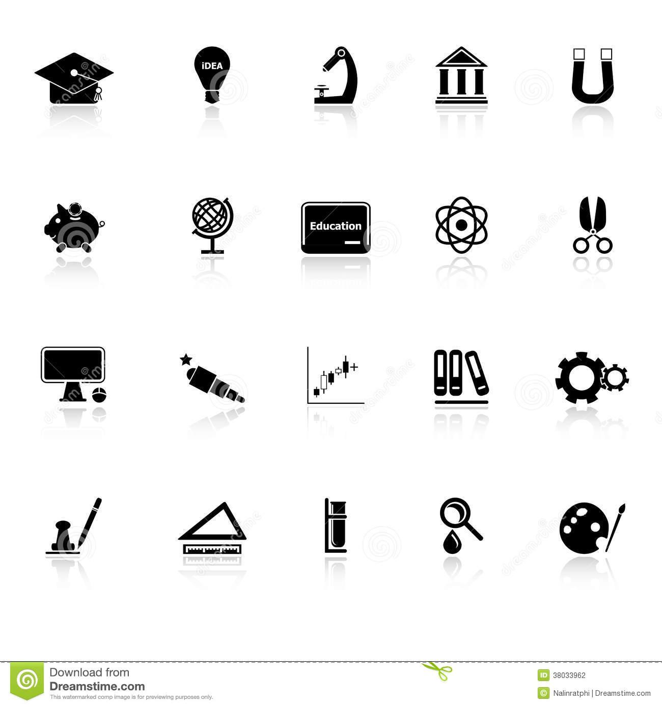 White Education Icons