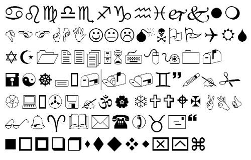 5 Symbol Font Chart Images