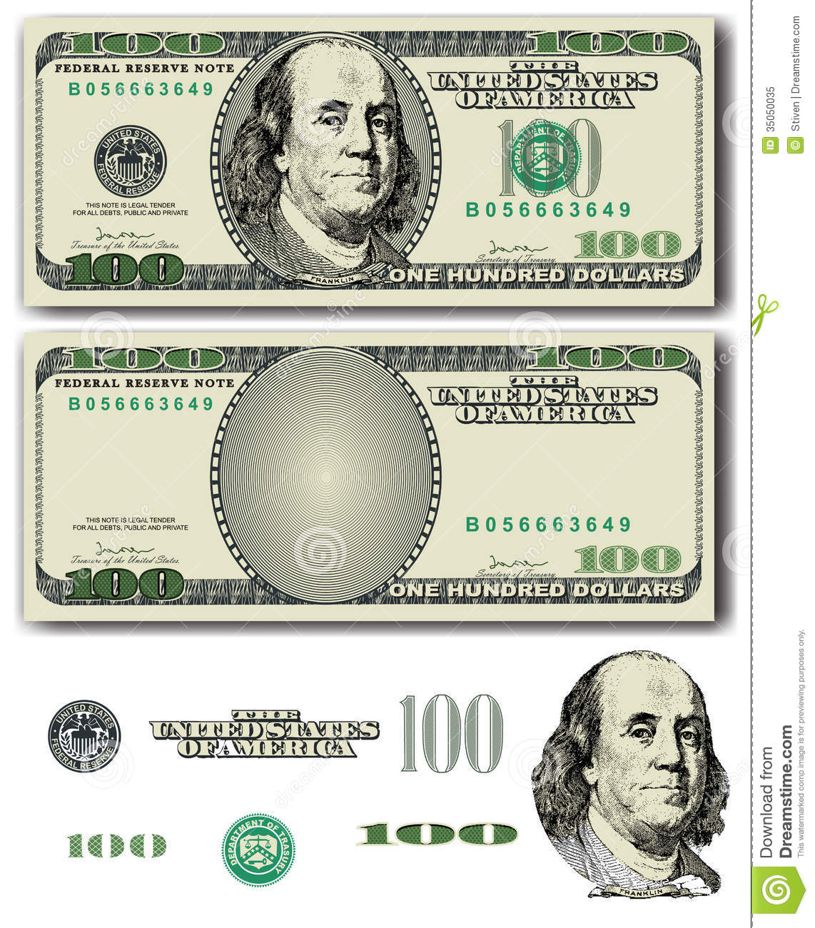 17 Hundred Dollar Bill Vector Images
