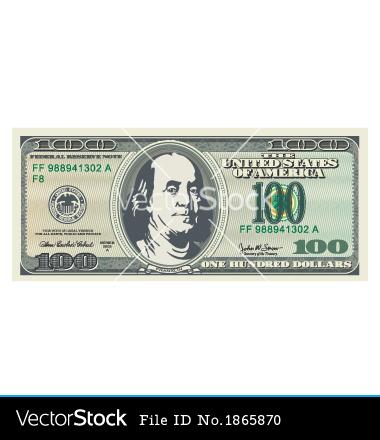 100 Dollar Bill Vector