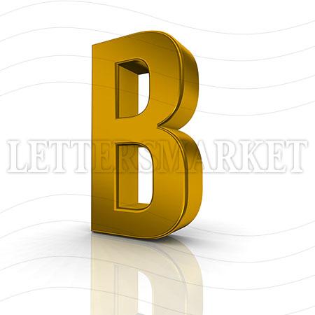 3D Gold Letter B
