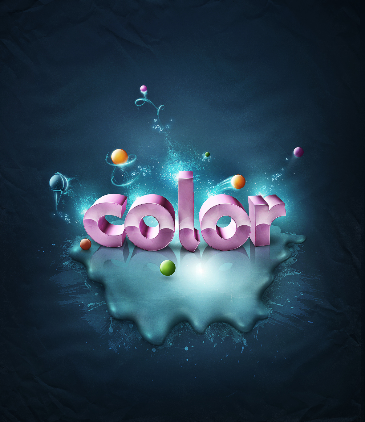 3D Text Effect Tutorials Photoshop