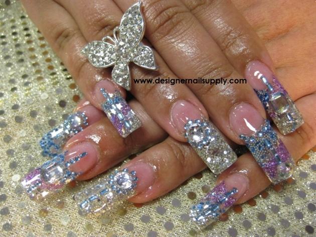 11 Bling Acrylic Nail Designs Images