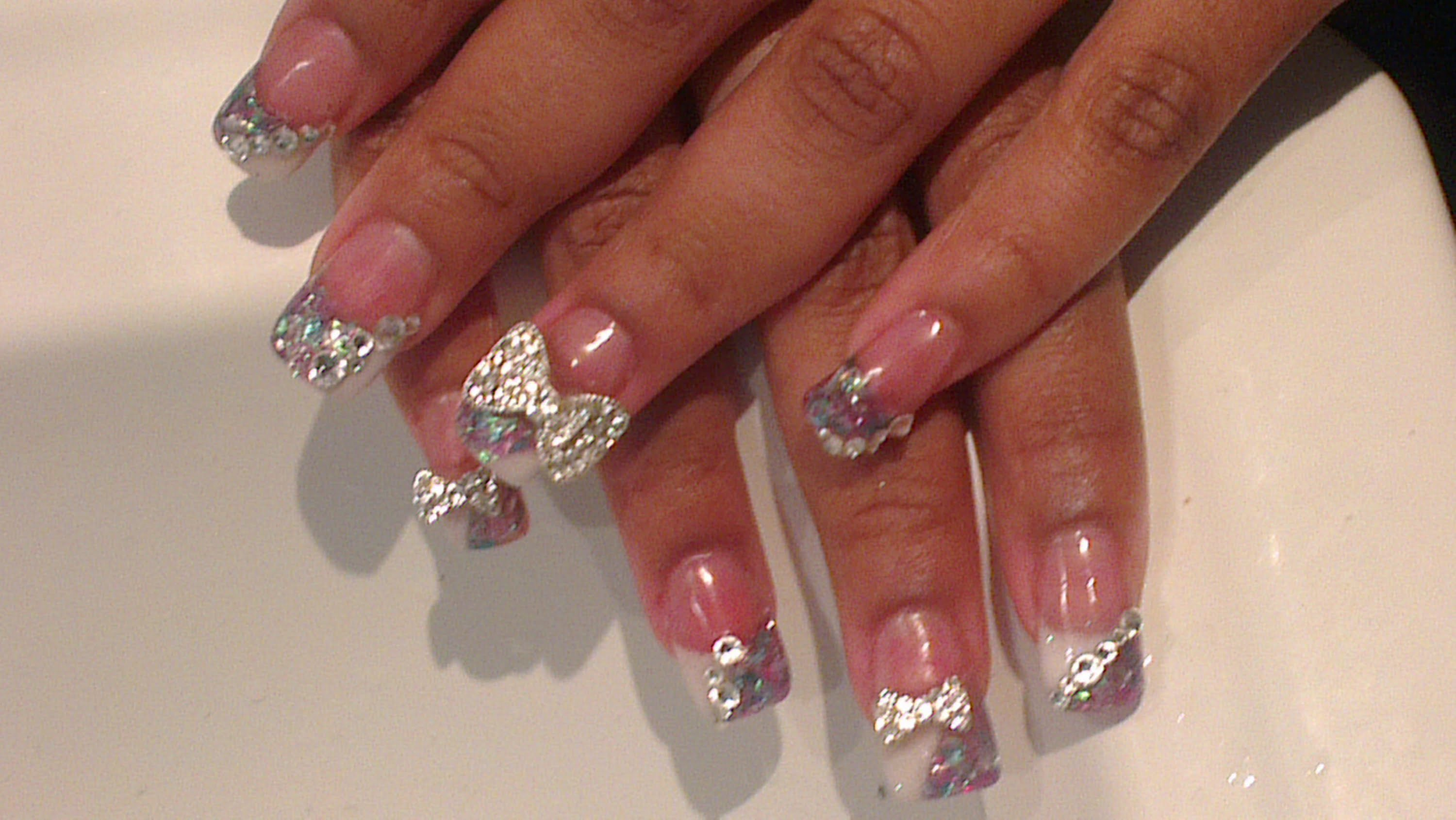 11 Bling Acrylic Nail Designs Images - Acrylic Nail Designs with ...