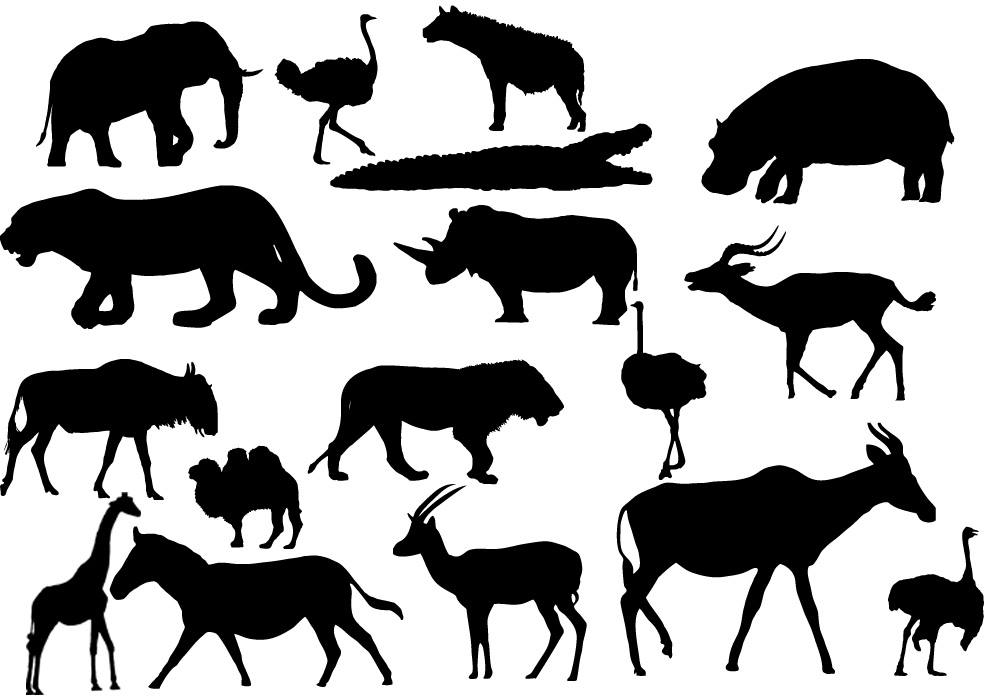 African Animal Templates