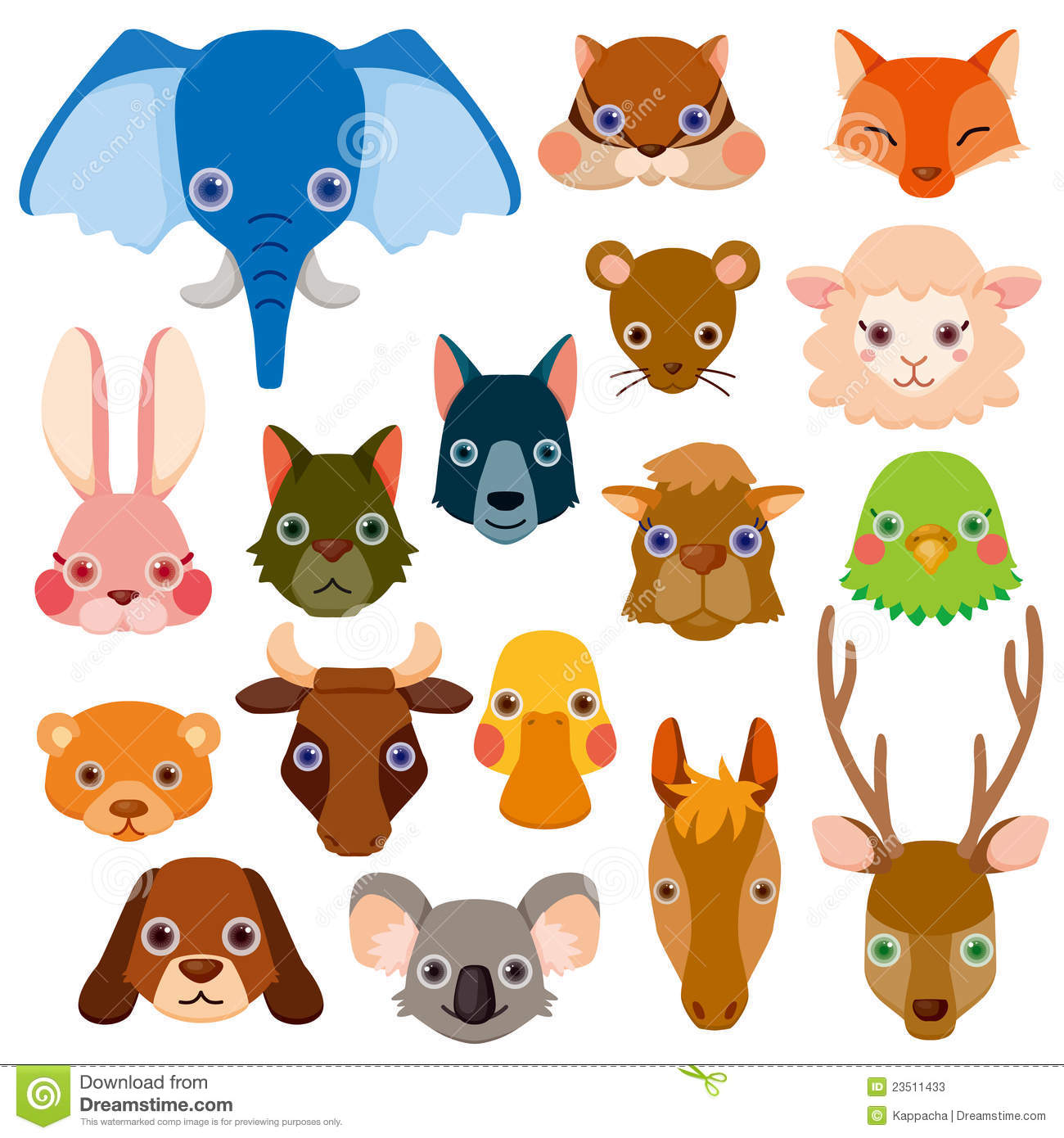 Animal Head Vector