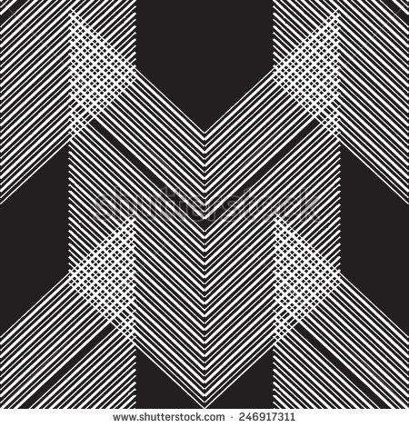 Art Deco Black Seamless Texture