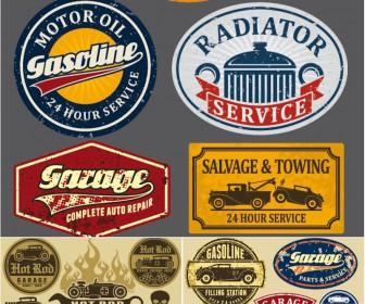 Automotive Vintage Vector Label