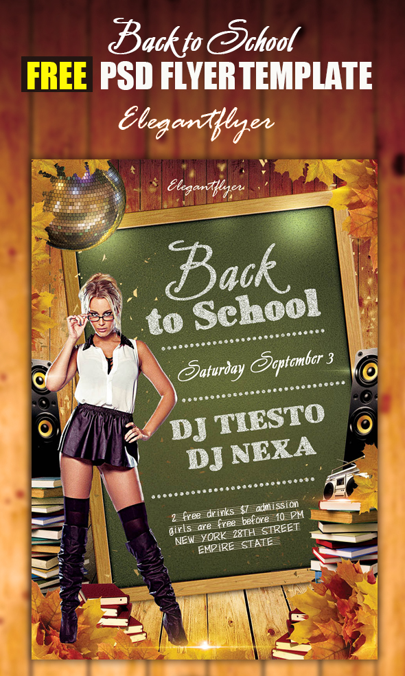 11 Back To School Flyers Templates Psd For Free Images