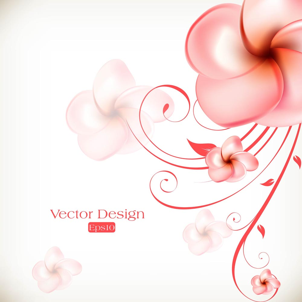 18 Free Vector Flower Background Images