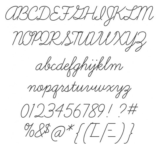 10 Script Font Styles Images - Cursive Tattoo Fonts