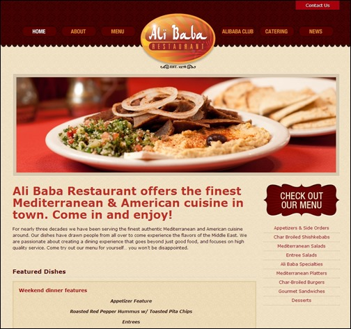 19 Best Restaurant Websites Design 2013 Images