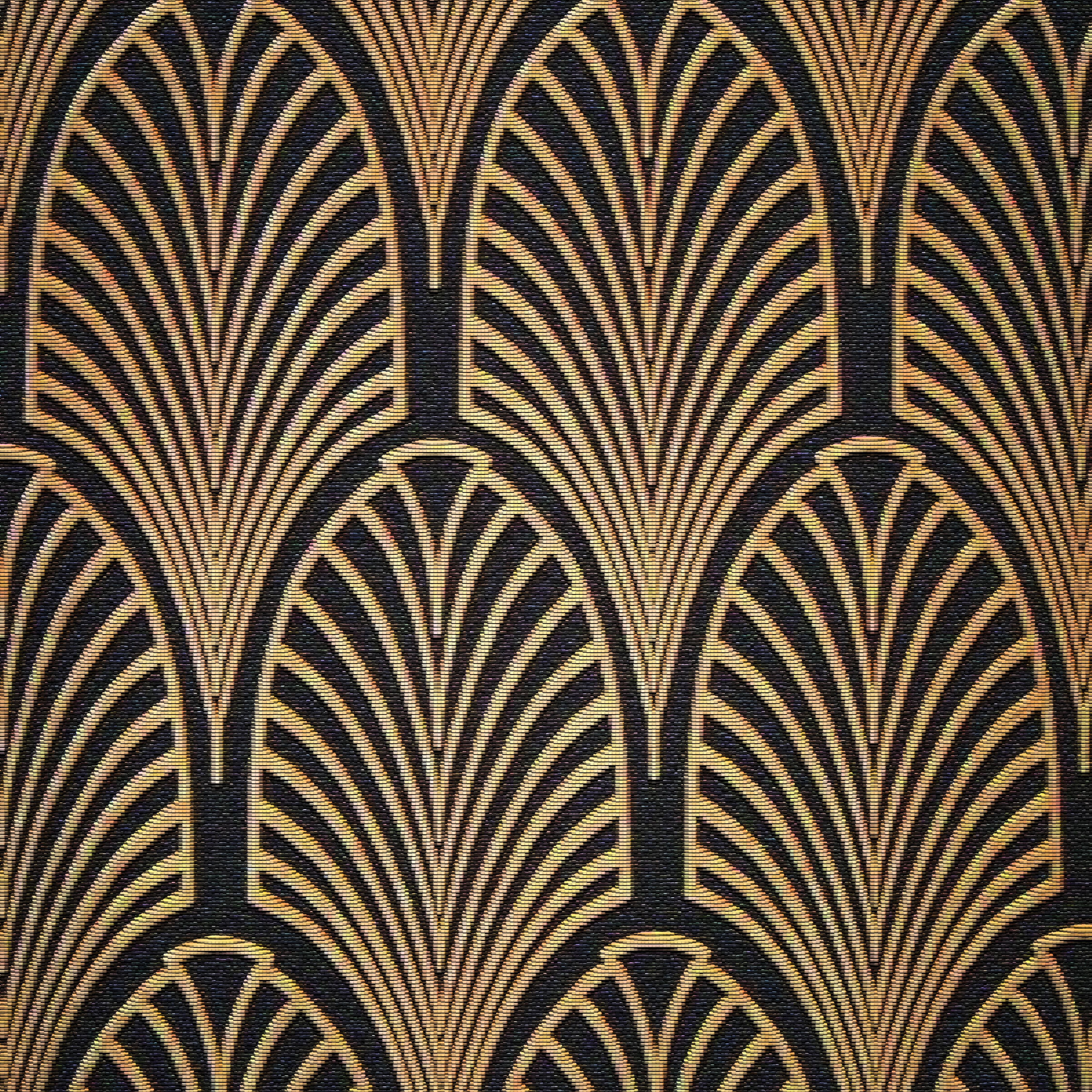Black and Gold Art Deco Pattern