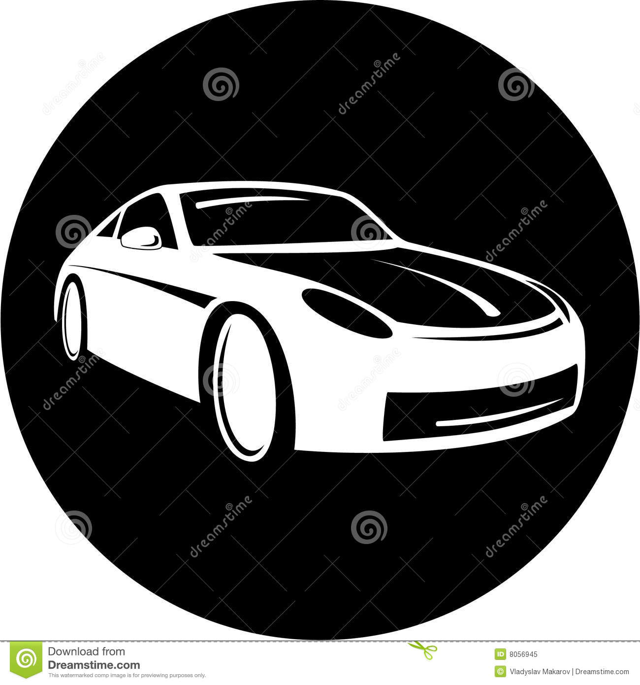 Black and White Car Icons Free