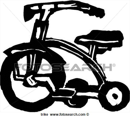 Black and White Clip Art Trikes